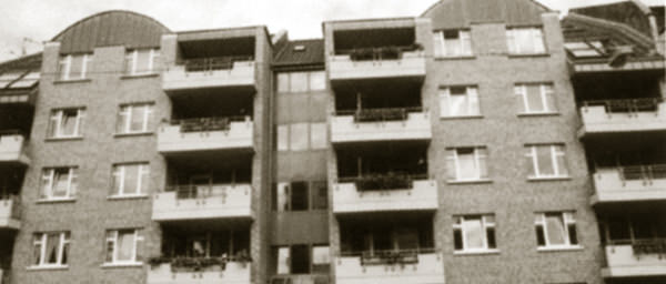 Neubau an der Hubertusstraße.